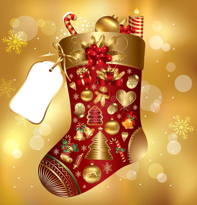 De sok van Kerstmis van de gift royalty-vrije illustratie