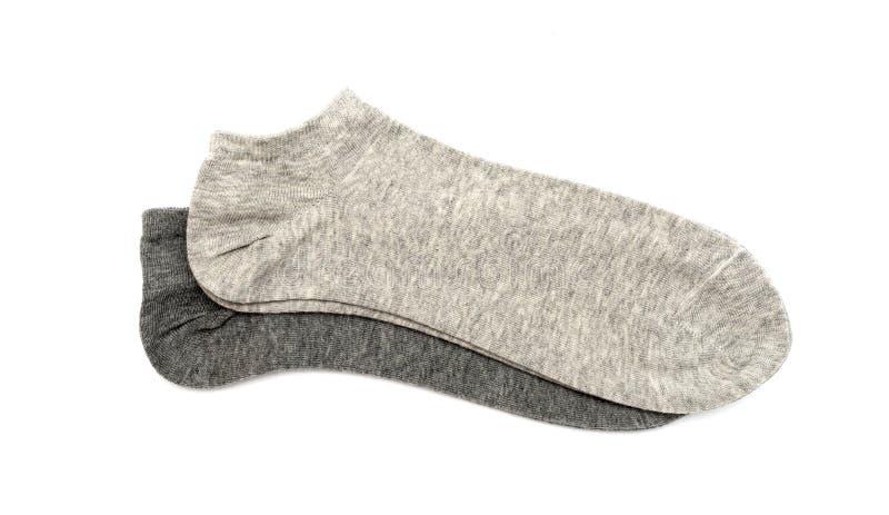 De sokken van grijze mensen royalty-vrije stock afbeelding