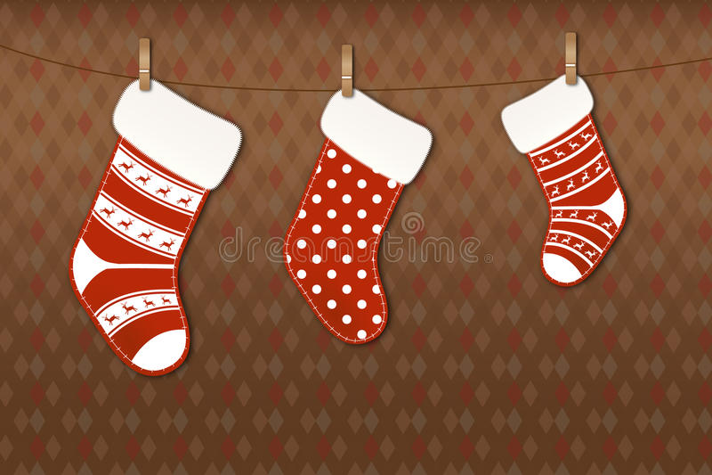 De sokken van Kerstmis stock afbeeldingen