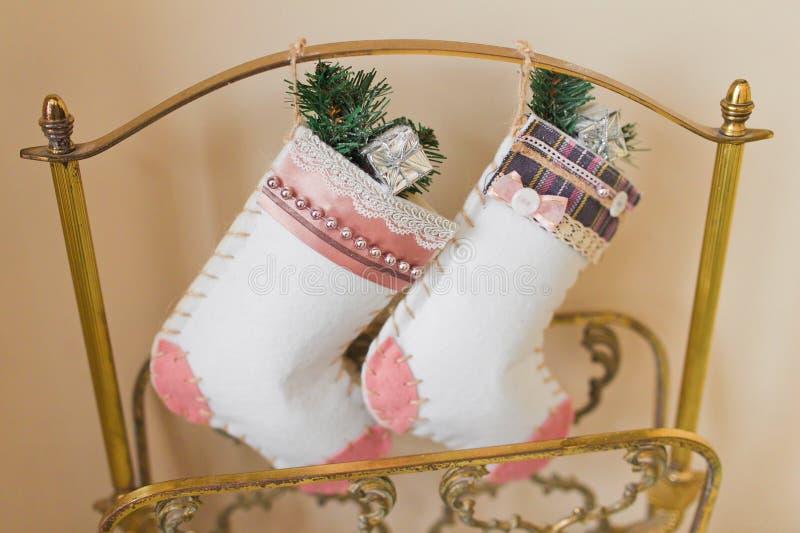 De sokken van Kerstmis stock afbeelding