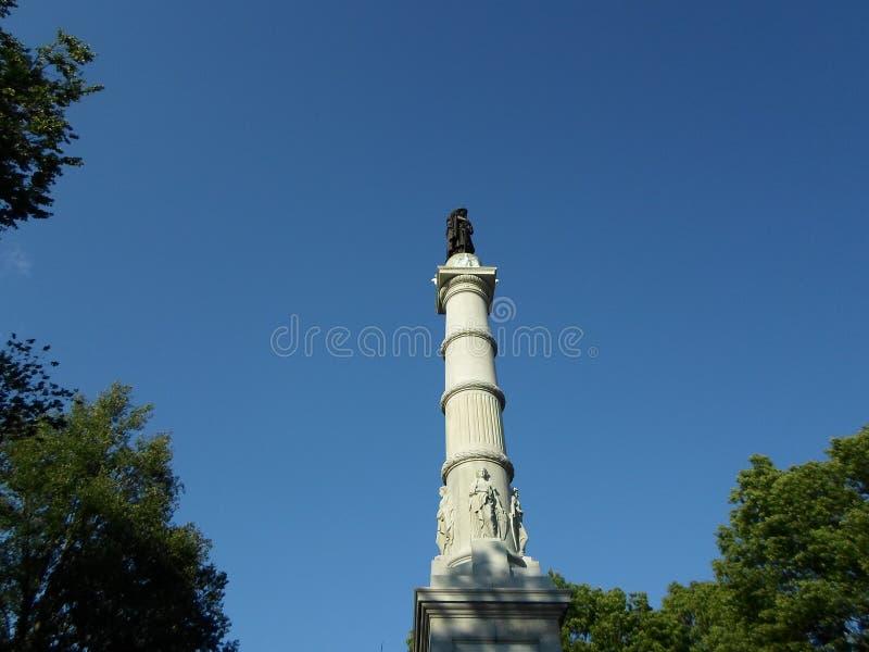 ` De soldats et monument de ` de marins, terrain communal de Boston, Boston, le Massachusetts, Etats-Unis photographie stock