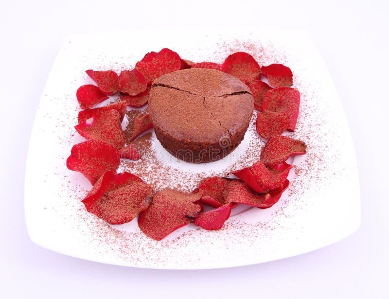 De soufflé van de chocolade royalty-vrije stock afbeelding