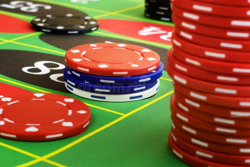 De Spaanders van de roulette zijn neer royalty-vrije stock fotografie