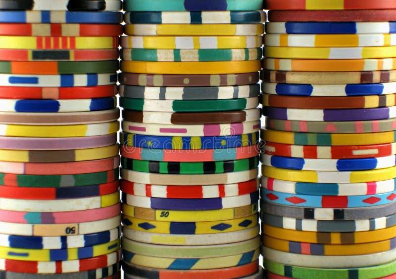 De spaanders van het casino stock fotografie