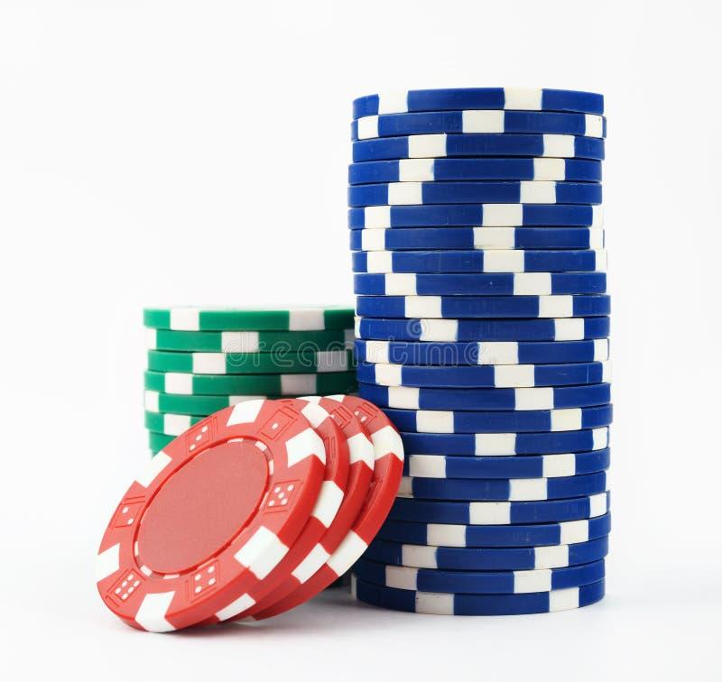 De spaanders van het casino stock afbeeldingen