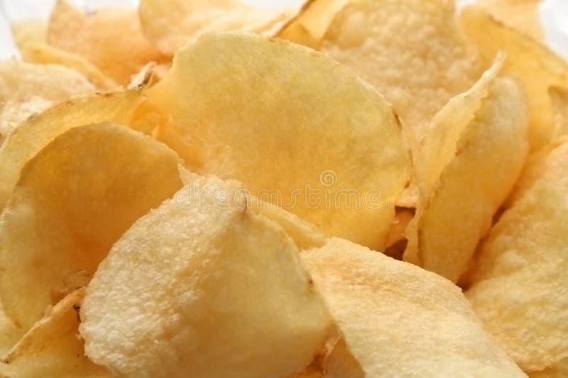 De spaanders van Potatoe stock afbeelding