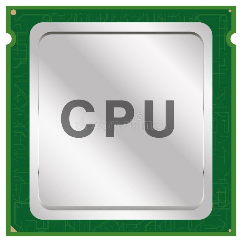 De spaandervector van cpu of van het CPU royalty-vrije illustratie