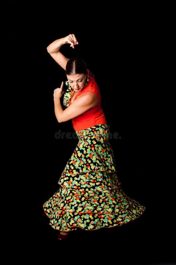 De Spaanse danser van het Flamenco royalty-vrije stock afbeelding