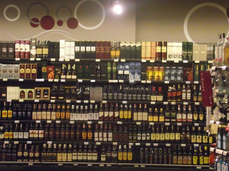 In de Spaanse kruidenierswinkelopslag royalty-vrije stock fotografie