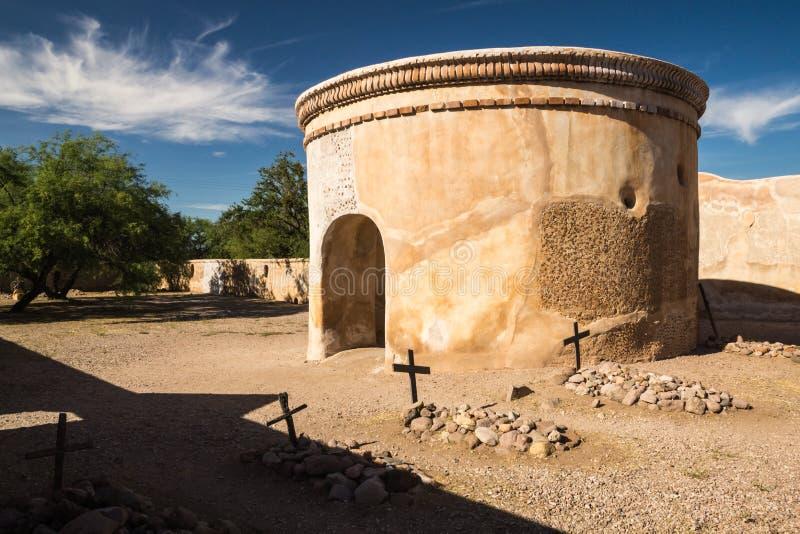De Spaanse Opdracht in Tumacacori stock fotografie
