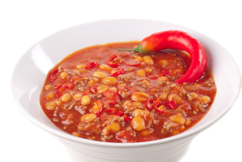 De Spaanse peper van de kom royalty-vrije stock afbeelding