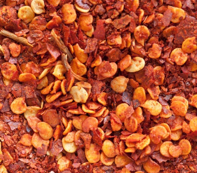 De Spaanse peperpoeder van de grond royalty-vrije stock afbeeldingen