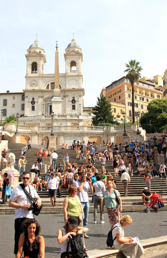 Spaanse Stappen van Piazza Di Spagna, Rome stock afbeelding