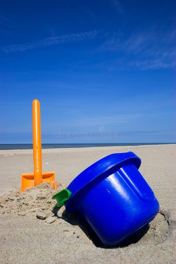De spade en de emmer van het strand royalty-vrije stock foto