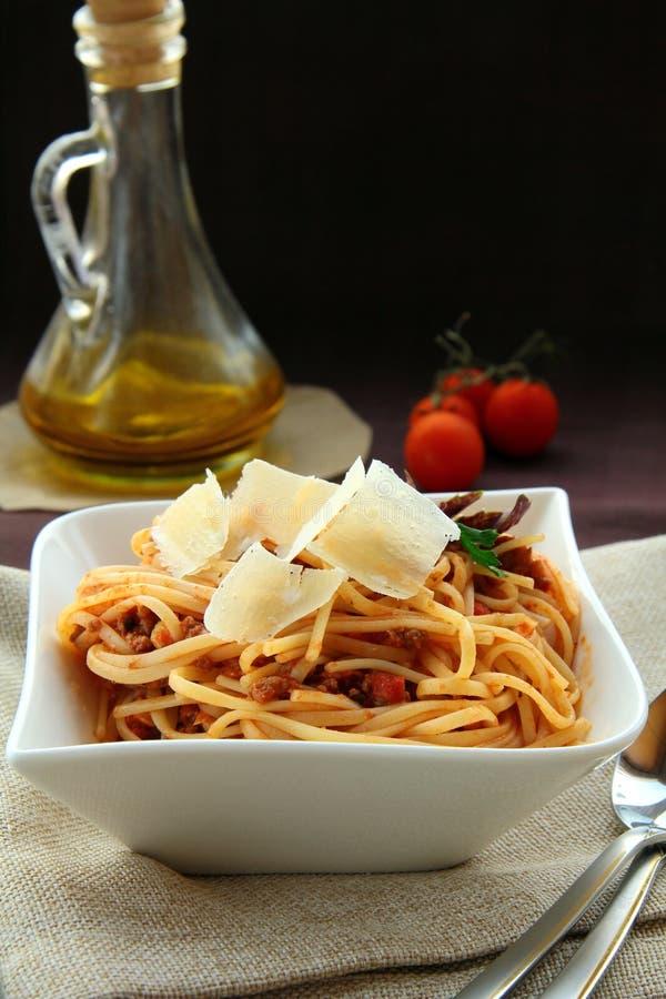 De spaghetti van Bolonnez royalty-vrije stock fotografie