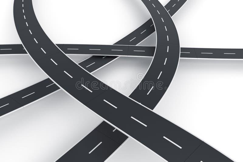 De spaghetti van de weg stock illustratie