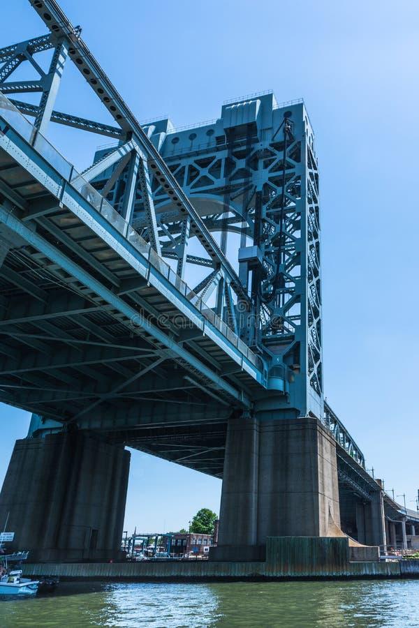 De Spanwijdte van Robert F Kennedy Bridge Harlem River Lift, de Stad van Manhattan, New York stock foto