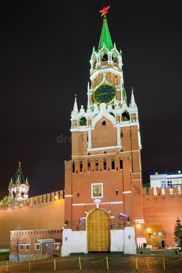 De Spasskaya Toren, Moskou, Rusland royalty-vrije stock afbeelding