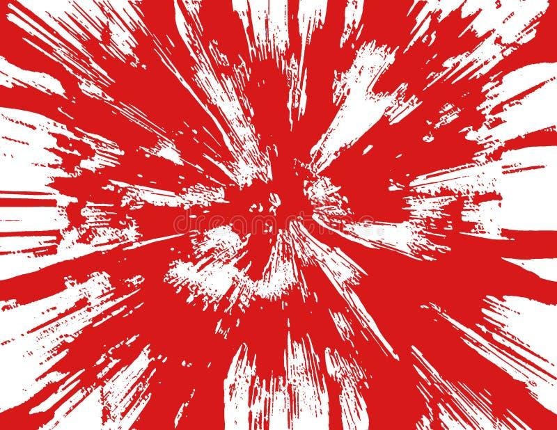 De Spat van het bloed stock illustratie