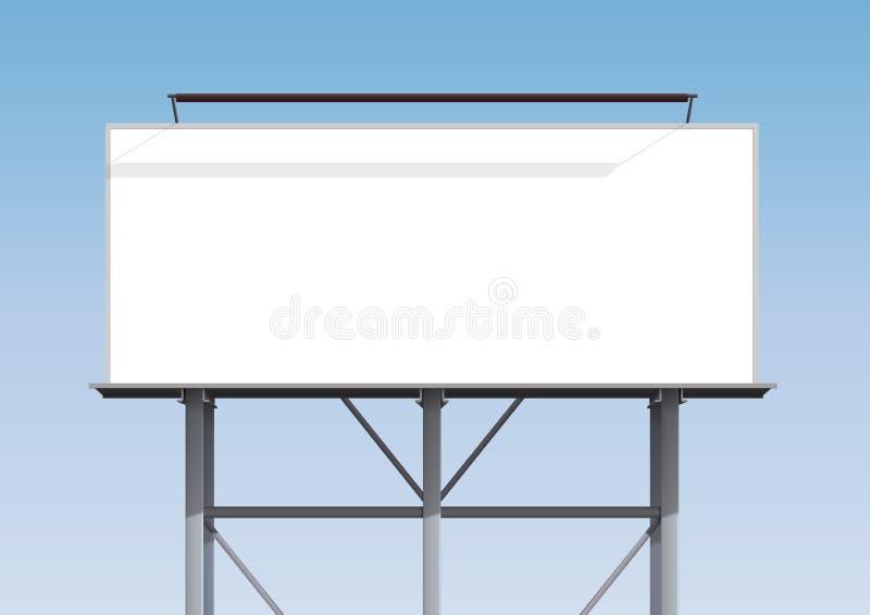 De spatie van het aanplakbord stock illustratie
