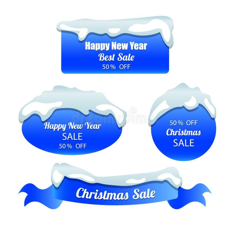 De speciale geplaatste stickers van de de winteraanbieding royalty-vrije illustratie