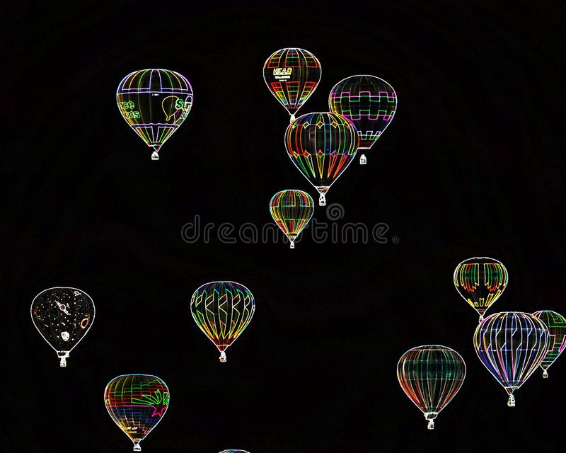 De speciale Groep van de gevolgenballon in Albuquerque stock foto