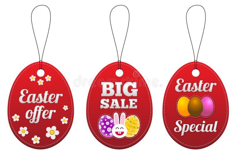 De speciale markeringen van Pasen in de vorm van ei.