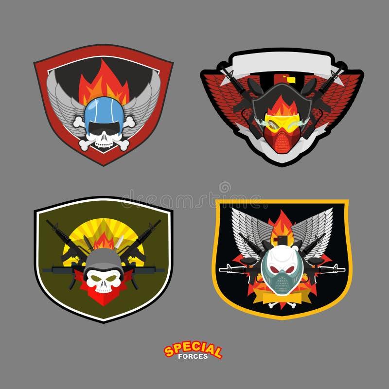 De speciale reeks van het eenheids militaire embleem Vector illustratie royalty-vrije illustratie