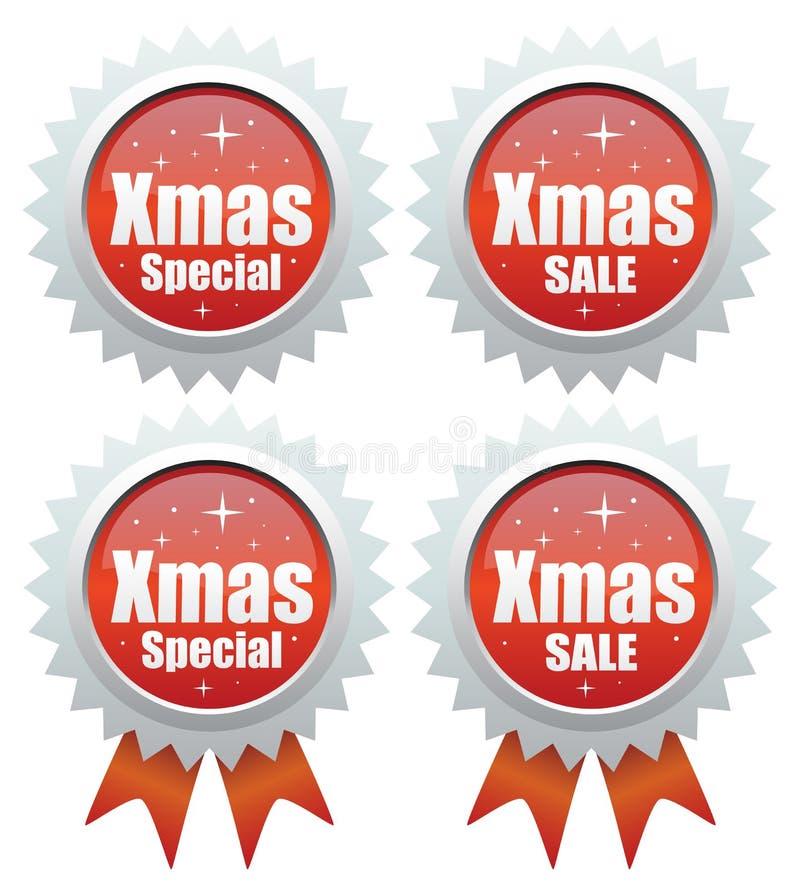 De speciale verkoop van Kerstmis vector illustratie