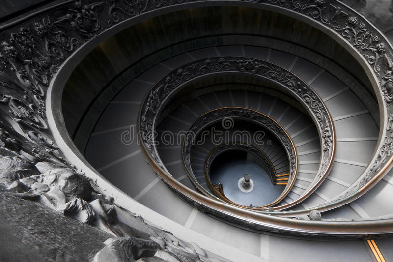 De spectaculaire Wenteltrap van het Museum van Vatikaan royalty-vrije stock afbeelding