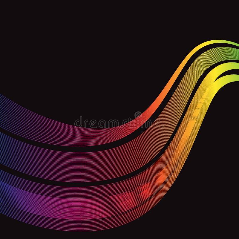 De spectrumgolf kleurt achtergrondvector stock illustratie