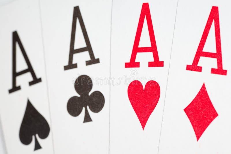 De speelkaarten sluiten omhoog. stock afbeelding