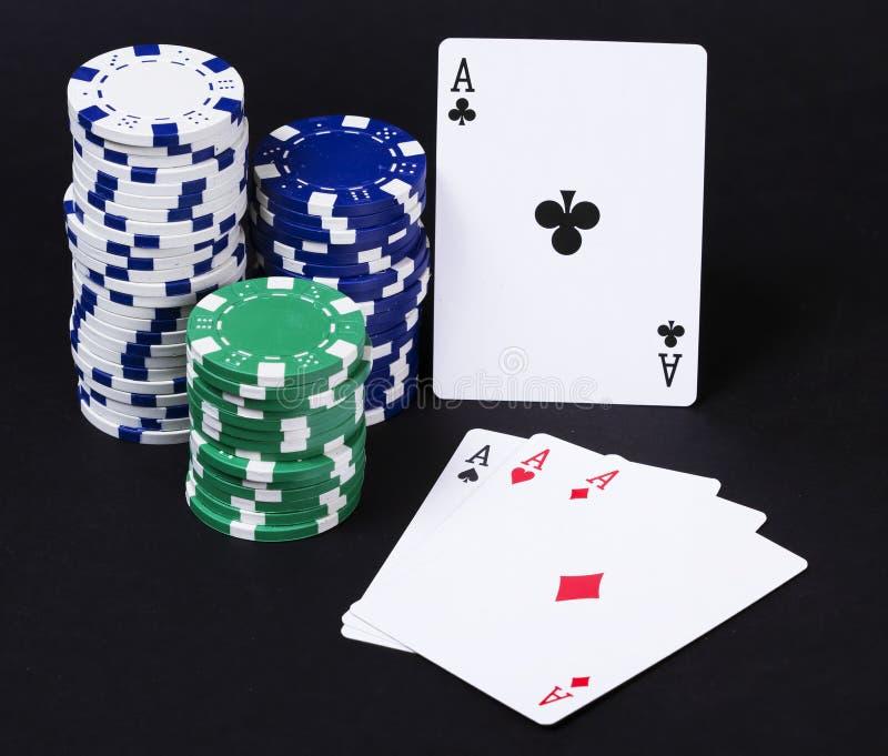 De speelkaarten van azen royalty-vrije stock foto
