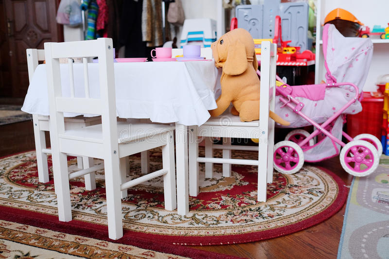 De speelkamer van lege kinderen royalty-vrije stock fotografie