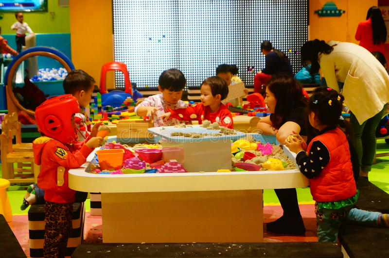De Speelplaats van kinderen, in Shenzhen, China royalty-vrije stock afbeelding