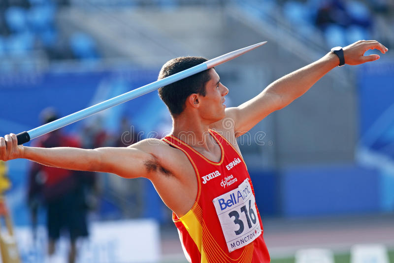 De speer werpt Spanje Jordanië stock foto's