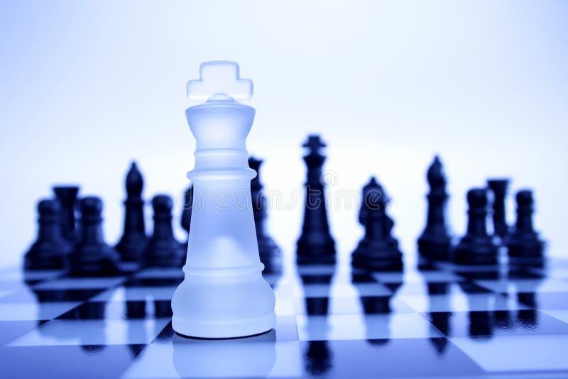 De spel-koning van het schaak royalty-vrije stock afbeelding