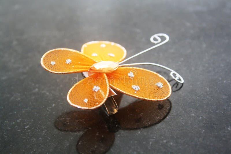 De speld van het vlinderhaar royalty-vrije stock foto's