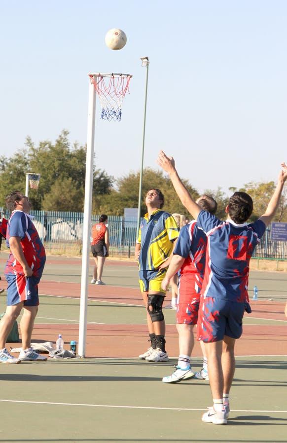 De spelen van de Mensen van de Korfballliga stock foto