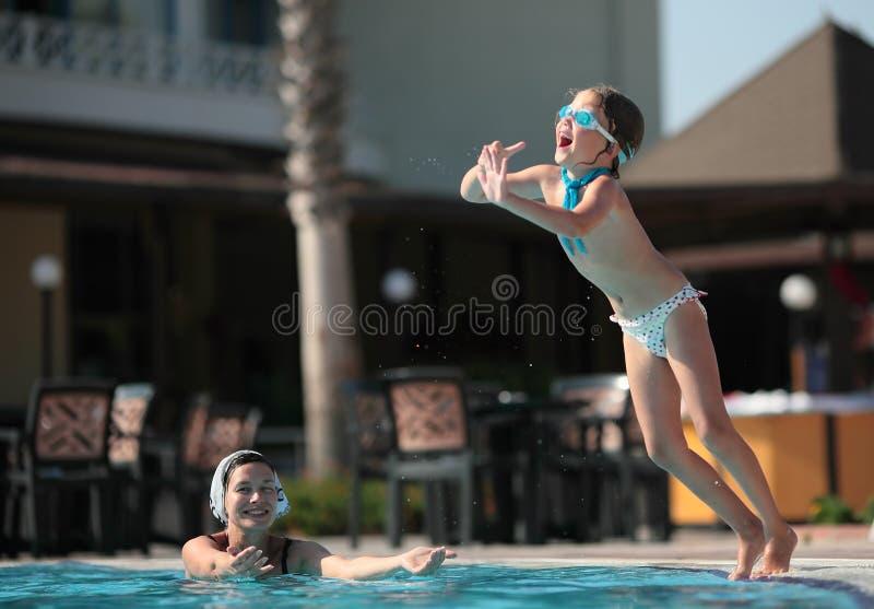 De spelen van de pool stock foto