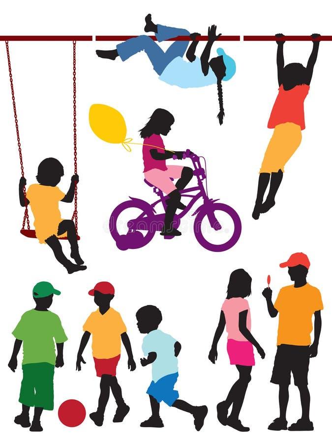 De spelen van kinderen stock illustratie