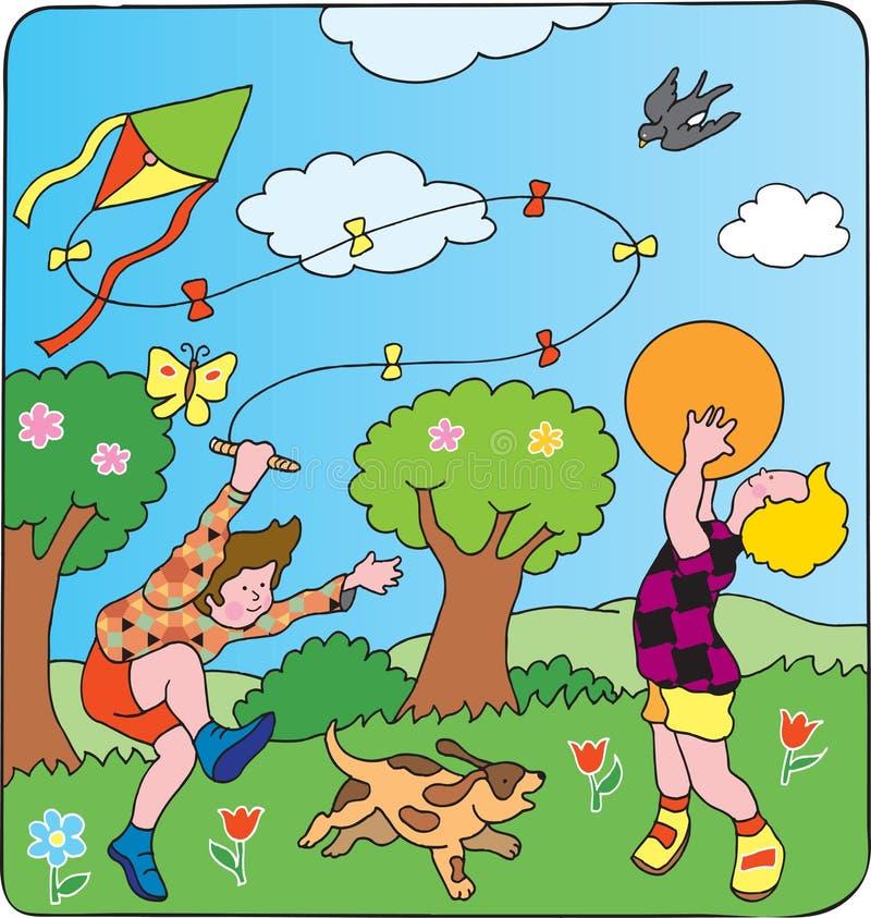 De spelen van kinderen vector illustratie