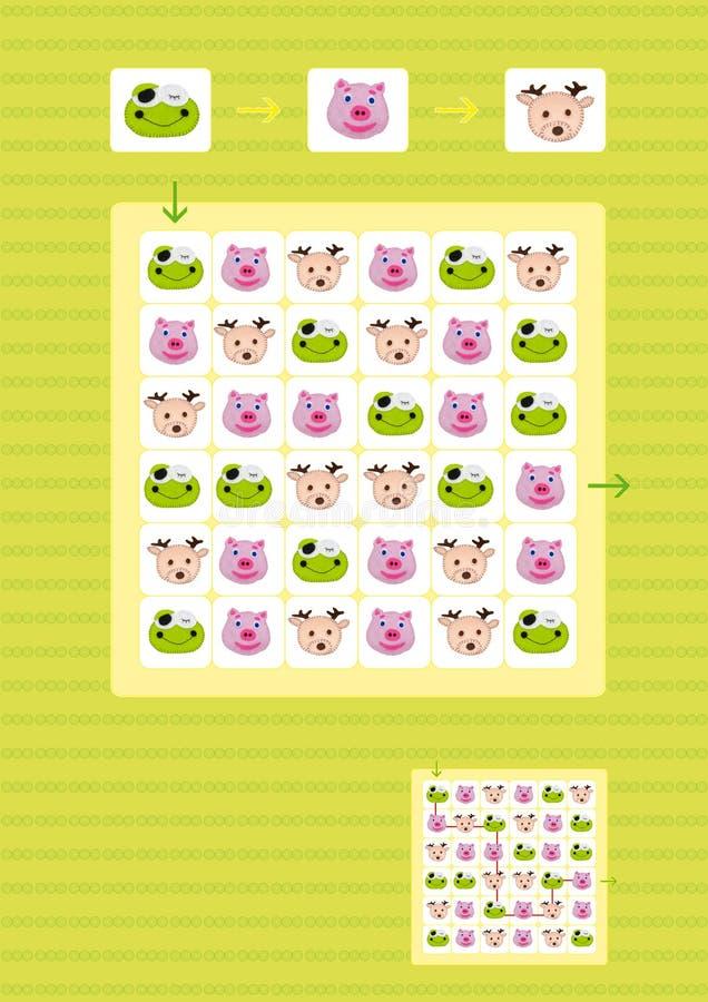 De spelen van prethersenen voor jonge geitjes stock illustratie