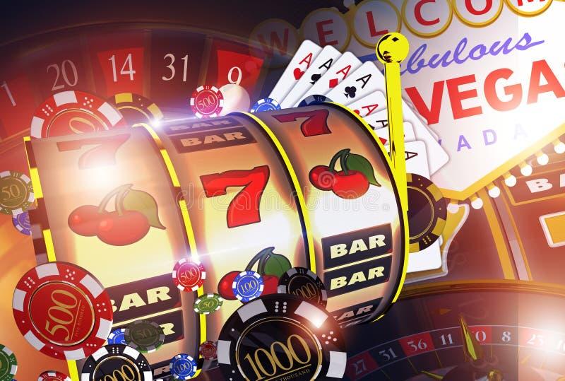 De Spelenconcept van het Vegascasino royalty-vrije illustratie