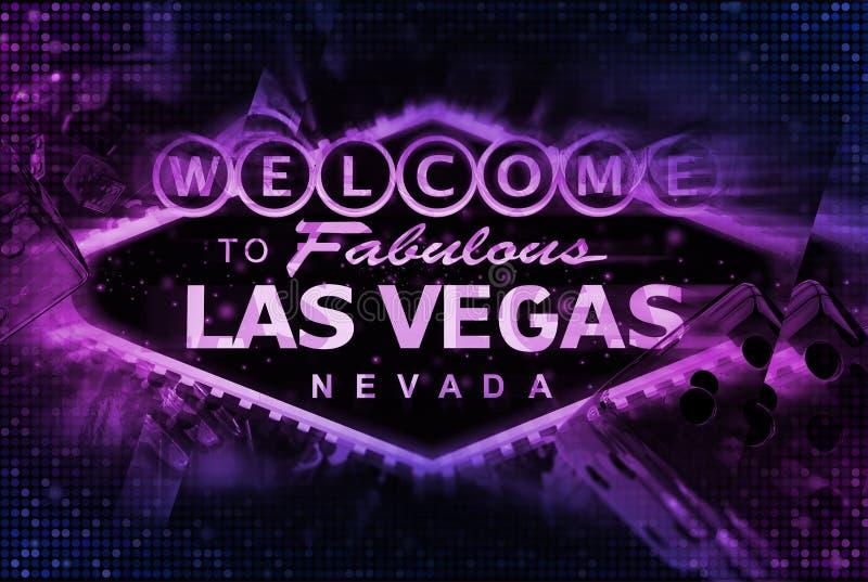 De Spelenconcept van Las Vegas stock illustratie