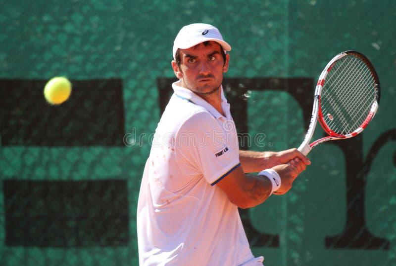 De speler BENJAMIN BALLERET van het tennis royalty-vrije stock afbeeldingen