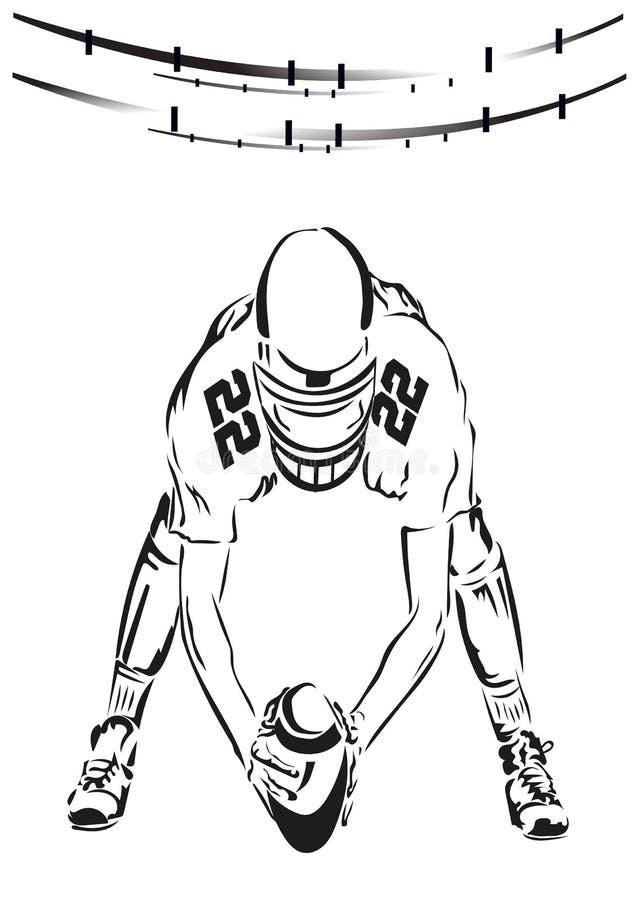 De speler met de bal stock illustratie
