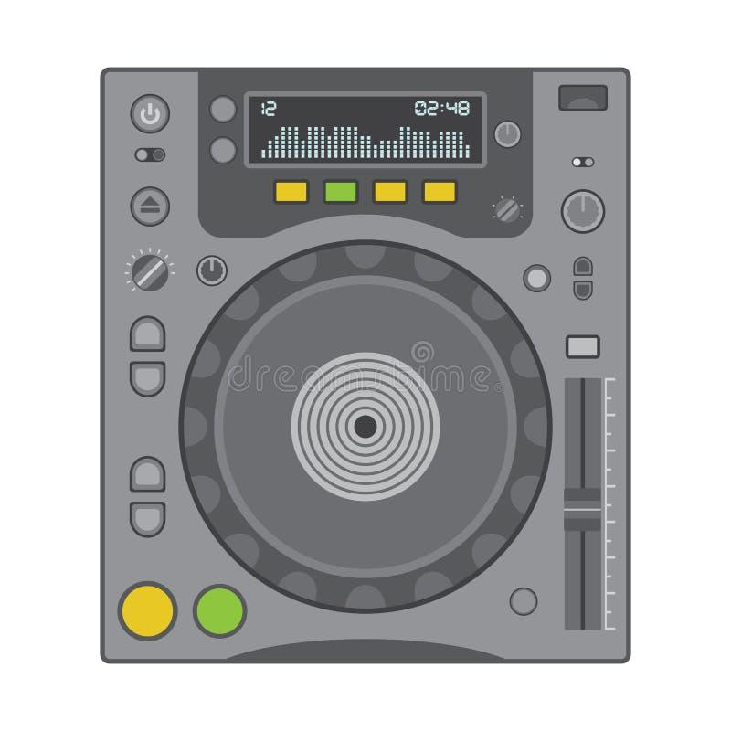 De speler van CD van DJ royalty-vrije illustratie