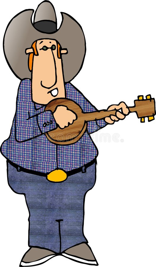 De Speler van de banjo royalty-vrije illustratie