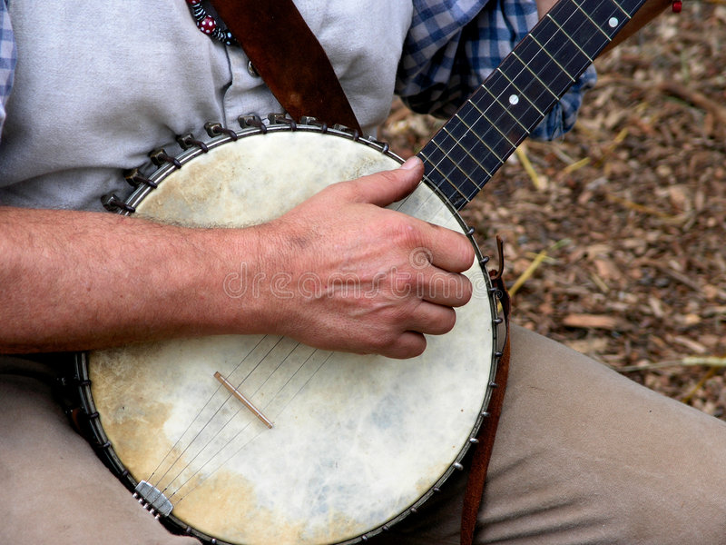De Speler van de banjo royalty-vrije stock foto's